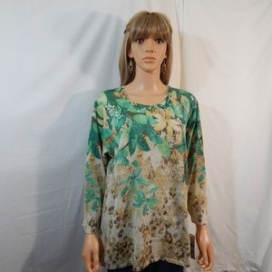 NWT NEW Alfred Dunner 1X 18/20 Top Shirt Blouse